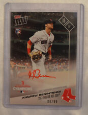 2017 Topps Now Andrew Benintendi Autograph Card PS-61A Boston Red Sox 08/99 NY