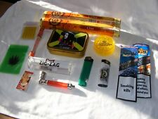 SMOKERS GIFT SET, SHREDDER, PIPES, FILTERS, PAPERS, LIGHTERS, BARGAIN GIFT SET 6