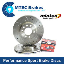 Mitsubishi L200 2.5 DiD Front 294mm Drilled Grooved MTEC Brake Discs Mintex Pads