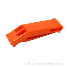 Survival Safety Whistle Emergency Scuba Diving Hiking Camping Neon Orange