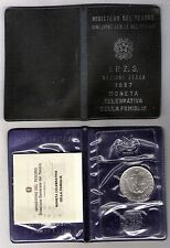 Italia 1987 L. 500 Argento Commemorativa della Famiglia FDC Confezione Originale