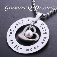 Personalised Stainless Steel Family Name Or Words Necklace D153