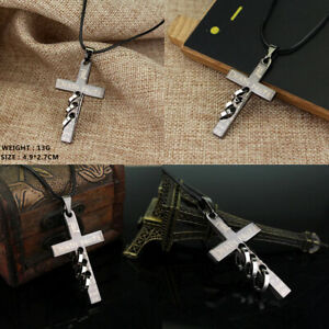 Anime Death Note Cross Pendant with chain in Organza Gift Bag ( UK SELLER )