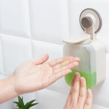Wall Mount Automatic Liquid Soap Dispenser Plastic Bottle Pump Kitchen Bathroom