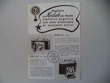 advertising Pubblicità 1940 KODAK RETINA II A/DUO II 620