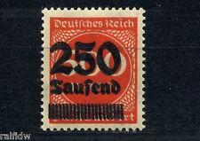 Dt. Reich 250Tsd./500M. Doppeldruck ** Michel 296 DD geprüft (S4592)