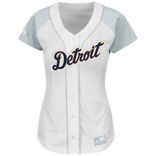 Detroit Tigers Women's Ladies Fashion Jersey, WHITE, Medium, NWT, FREE Shipping