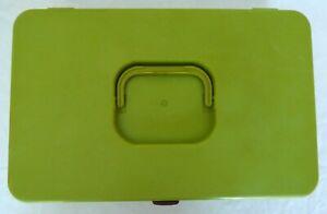 WILSON GREEN WIL-HOLD SEWING SPOOL BOX CASE THREAD BOBBIN ORGANIZER