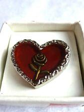 HEART - ROSE - Memories Of Love - PIN BADGE / BROOCH - Boxed