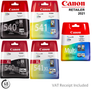 Genuine Canon PG540/PG540XL or CL541/CL541XL Ink Cartridges for PIXMA Printers