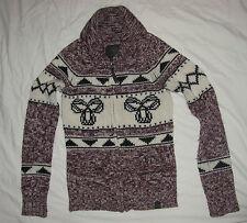 Aritzia TNA Lambswool Wool Sweater XS Maroon/Purple - Sea to Sky - Cardigan