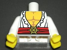 LEGO Swashbuckler Minifigure Torso White Open Shirt Pirate Muscles 71007