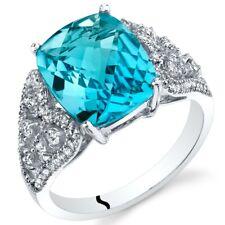 Oravo 14K White Gold 4.50 carat Swiss Blue Topaz Opulent Ring