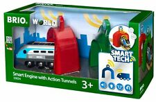 Brio Wooden Trains Smart Travel Engine With Action Tunnels 3 Pieces 33834