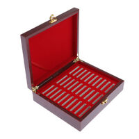 Wooden Superb Coin Box Holder Display Case Container for 30Coins 46mm Collection