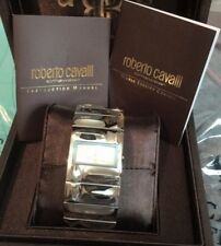 Roberto Cavalli Watch Croco Tail R7253270015 Silver Dial Cuff Women's Bracelet