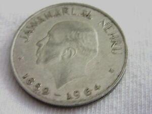 *1964 COMMEMORATIVE JAWAHARLAL NEHRU- 1 RUPEE-  COIN ........ .    #O.8/20