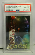Michael Jordan 1996 Flair Showcase Row 2 Basketball Card # 23 Graded PSA 8 NM-MT