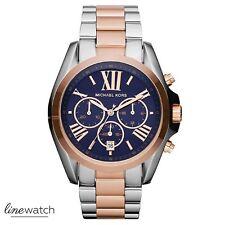 Michael Kors MK5606 Bradshaw Damenuhr Chronograph Rose Silberfarben Blau NEU OVP