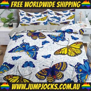 White Butterflies Bedspread Set - Duvet Cover *FREE WORLDWIDE SHIPPING*