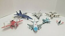 Blue Angels US Navy Die-cast Plane Airplane Pull Back Toy Fighter Jet Lot