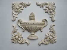 DECORATIVE SHABBY CHIC URN/FOUR REGAL FINISHING  MOULDS /FURN ITURE/PROJECT