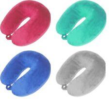 Almohada Viaje Cuello Cojines Colores Brillantes Tacto de Terciopelo con Cuentas