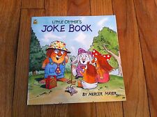 1993 LITTLE CRITTERS Critter's JOKE BOOK by Mercer Mayer Paperback Softcover PB