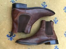 Prada Mens Shoes Brown leather Chelsea Dealer Boots UK 10 US 11 EU 44