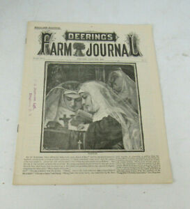 1886 Deering's Farm Journal Farm Machinery Newspaper Catalog
