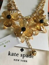 Kate spade Gold-Tone Blooming Brilliant Flower Statement Necklace NWT New  $148