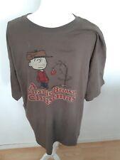 Peanuts Charlie Brown Christmas T Shirt Size XL Brown Christmas Tree 100% Cotton