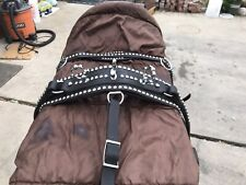 Two Identical Single Leather Horse Harnesses For Full Size Horse