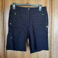 Size 6 JAMIE SADOCK Black Bermuda Shorts - Zippered Pockets - Golf - Nylon Blend