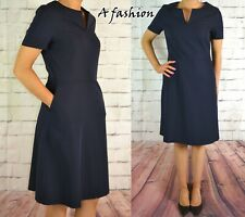 NEXT BLUE WORKWEAR DRESS LADIES A LINE TAILORED AVAILABLE IN 2 LENGTHS 157