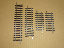 HORNBY   LOT DE 4 RAILS DROIT ET COURBES EN MAILLECHORT ECHELLE HO