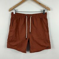 RVCA Mens Shorts Size Small Brown Elastic Waist Drawstring