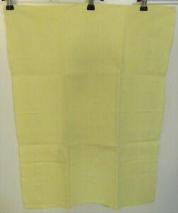 Torchon ancien teint jaune nid d'abeille bande verticale