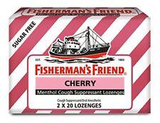 2 Pack Fisherman's Friend Cough Suppressant Lozenges Cherry 40 Count Each
