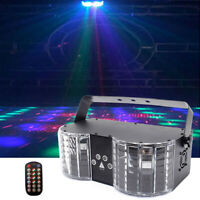 RG Laser RGBW LED Butterfly King Stage Lighting DMX with Remote Disco Party Show