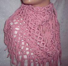 PINK SCARF COWL INFINITY DIAMOND  SOFT LONG NECK WARMER-WOMEN- YOUTH GIRL - NEW