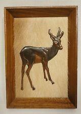 Vintage Framed Embossed Copper African Springbok On Hide (DennisThomson Art)