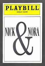 "Barry Bostwick ""NICK & NORA"" Joanna Gleason / Faith Prince 1991 FLOP Playbill"
