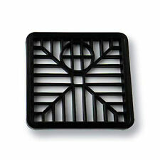 "SQUARE 6"" 15cm PLASTIC BLACK DRAIN COVER / GULLEY GRID / DRAINAGE GRILLE GULLY"