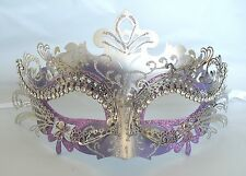Purple & Silver Metal Venetian Masquerade Party Mask *NEW* Express Post Option