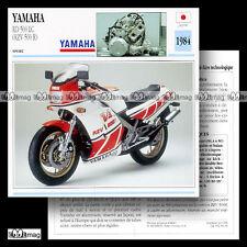 #036.04 YAMAHA RDLC 500 (RZV 500 R) 1984 Fiche Moto Motorcycle Card
