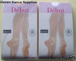 Debut Seamed Regulation Ballet Tights, Pink or White.