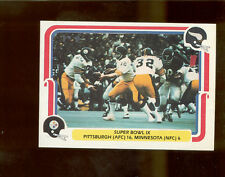 1980 Fleer TERRY BRADSHAW ROCKY BLEIER Pittsburgh Steelers Super Bowl IX Card