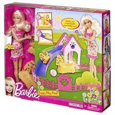 Barbie Puppy Play Park Doll And Playset NIB Mattel