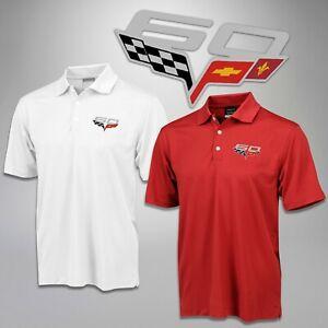 2013 Corvette Men's Polo Shirt 60th Anniversary Logo Nike Classic 637064